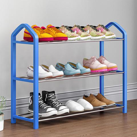 蜗家鞋架鞋柜多层简易置物架宿舍寝室家用门口门后浴室收纳架浴室拖鞋架小鞋架子K573