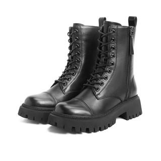 SENDA 森达  Z8054DD0 加绒厚底马丁靴