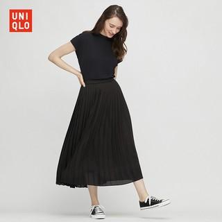 UNIQLO 优衣库 429209 雪纺打褶长裙
