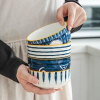 竹木本记 日式陶瓷饭碗 4.5英寸 *8件