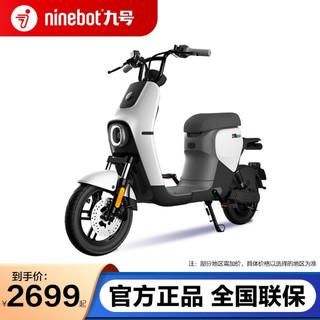 九号(Ninebot) B30C新国标可上牌9号智能电动车高性能续航铅酸电单车 初雪白灰