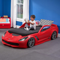 STEP2 860000 创意个性汽车床 红色