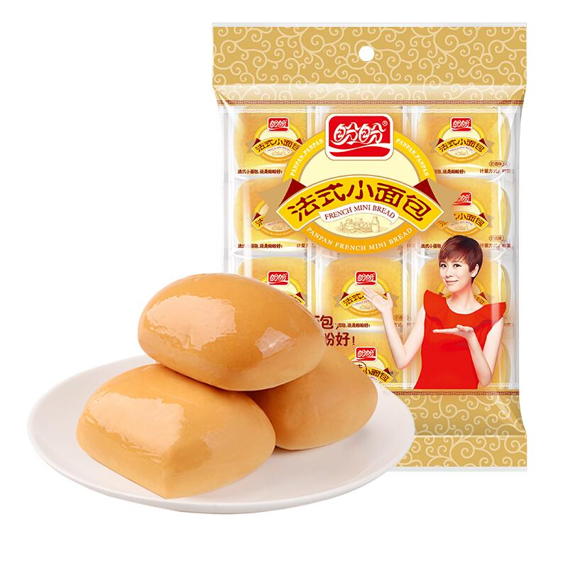 PANPAN FOODS 盼盼 法式小面包 奶香味 22枚 440g *13件