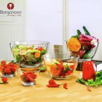 Borgonovo 博格諾進口加厚玻璃碗 三件套14cm+12cm+10cm