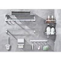 ARROW 箭牌卫浴 AEHYGL10705-1 卫生间黑色毛巾架六件套 B款