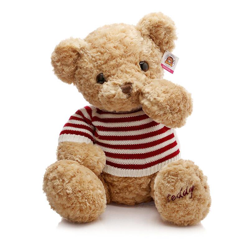 GLOBAL BOWEN BEAR 柏文熊 BBM001 美国毛衣熊 卡其 60cm *3件