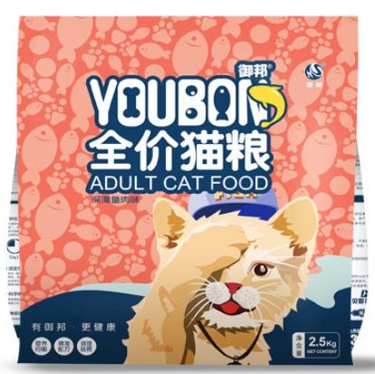 京东PLUS会员 : 御邦  成幼通用鱼干双拼 猫粮2.5kg*3件(共15斤)