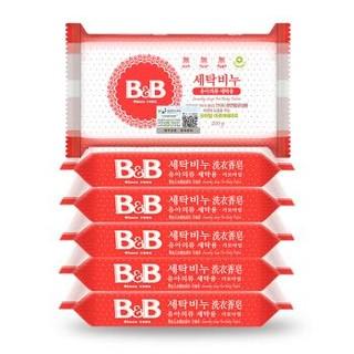 有券的上:保宁B&B 新生儿洗衣皂可煮洗甘菊香200g*6(共六块)