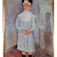 HOWstore 莫迪里阿尼限量版畫客廳掛畫Girl in blue 不含框