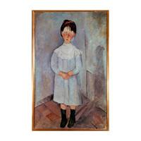 HOWstore 莫迪里阿尼限量版画客厅挂画Girl in blue 不含框