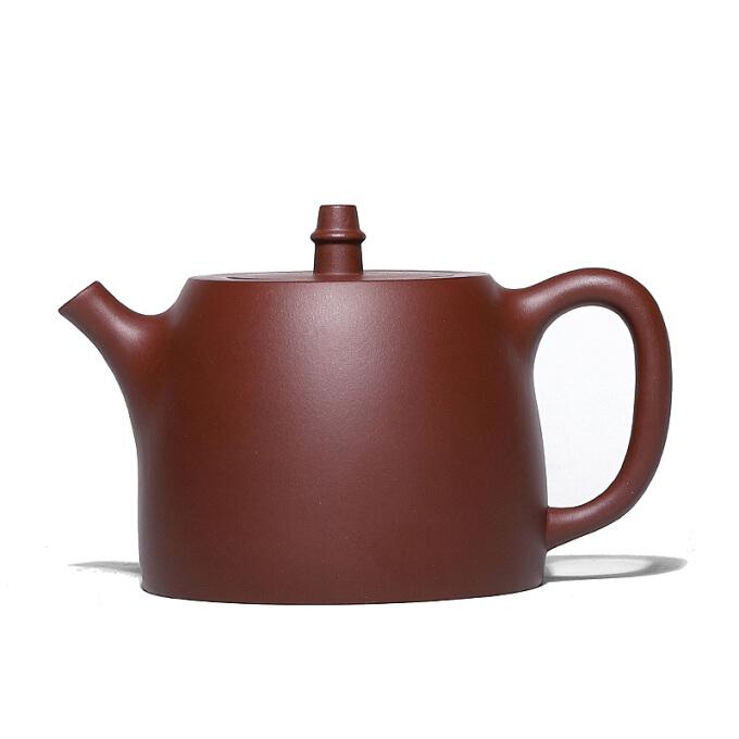 百年利永 小汉铎茶壶(300ml、紫砂、紫泥)