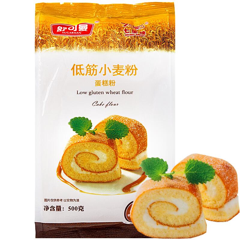 舒可曼 低筋小麦粉 蛋糕粉 500g