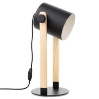EGLO奧地利 北歐進口松木設計臺燈 臥室 書房客廳裝飾燈 LED光源 43047
