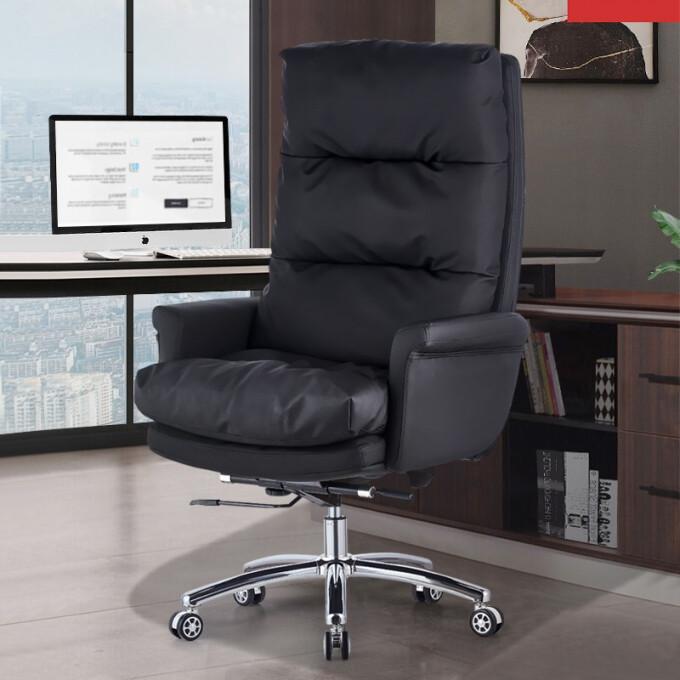 古雷诺斯 老板椅大班椅家用可躺商务升降办公室座椅子靠背书房舒适转椅 S229-01-黑(377)