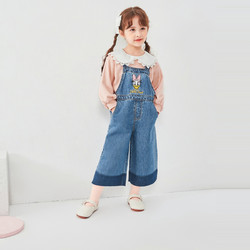 巴拉巴拉宝宝裤子春装新款女童背带裤童装儿童长裤阔腿裤 *2件
