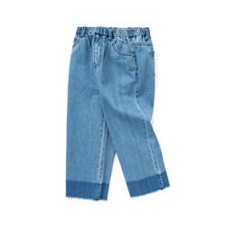 巴拉巴拉女童裤子儿童纯棉牛仔裤春装2021新款中大童阔腿裤潮 *2件