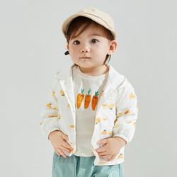 巴拉巴拉男童外套宝宝外套婴幼上衣女童外套2021春秋休闲连帽 *2件