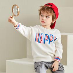 巴拉巴拉童装儿童长袖T恤男童春装宝宝2021新款内搭字母衫潮