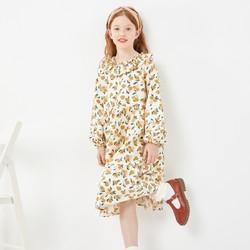 巴拉巴拉女童连衣裙儿童公主裙春装2021新款童装大童清新甜美 *2件