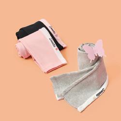 女童裤子儿童运动裤2021春新款打底裤休闲舒适中大童长裤