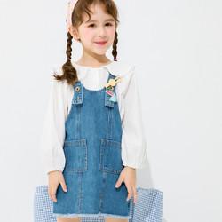 巴拉巴拉童装女童公主裙春季2021新款小童宝宝连衣裙洋气儿童裙子 *2件