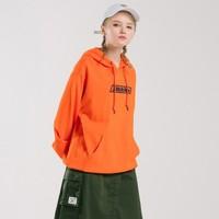 Dickies 字母印花长袖连帽卫衣女式冬季新品宽松上衣DK008032 橙色 00L *3件