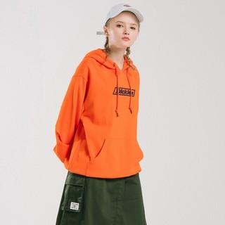 Dickies 帝客 字母印花长袖连帽卫衣女式冬季新品宽松上衣DK008032 橙色 00L