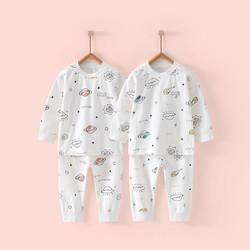 四季款婴儿衣服5月-3岁宝宝肩开内衣套装新生儿秋衣秋裤套装
