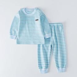 婴尚宝宝内衣睡衣3个月-5岁春季儿童睡衣舒棉绒肩钮套装男女童