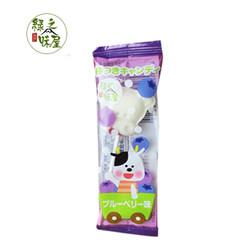 绿之味屋 牛奶棒棒糖儿童糖果休闲零食 蓝莓味7.5g