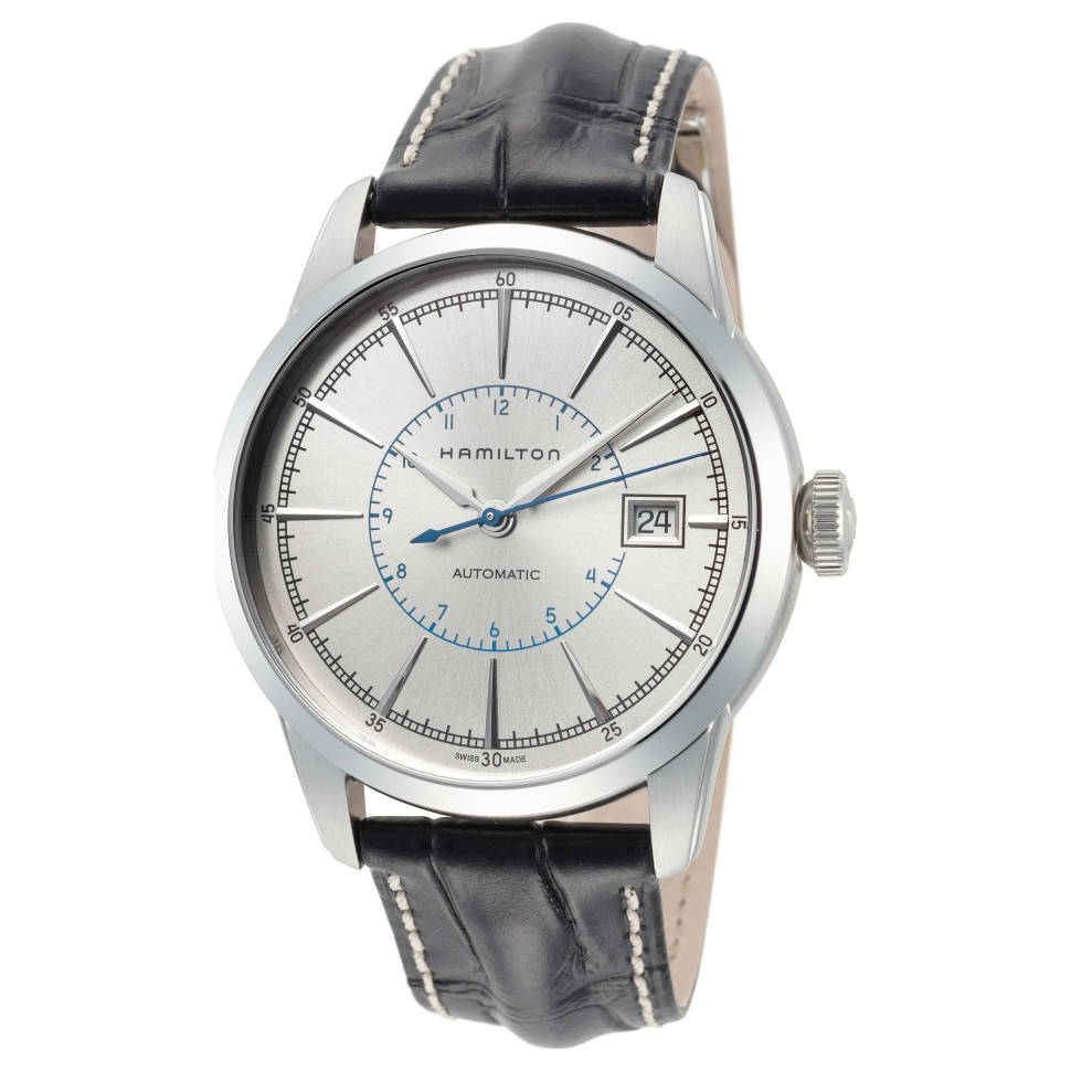 小编精选 : 经典大三针、亮眼蓝秒——HAMILTON 汉米尔顿 美国经典系列 H40555781 男士机械手表