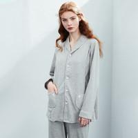 EMXEE 嫚熙 孕妇长袖哺乳睡衣 2件套