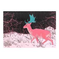 胡杨 限量微喷版画 《你来在大雪封山的夜》 空间装饰画壁画