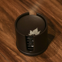 SUYI 素以 电木纯锡装饰茶托六个一组