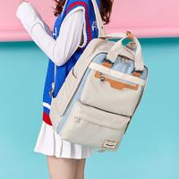 真维斯双肩包女韩版初高中大学生书包旅行甜甜圈大容量背包ins潮