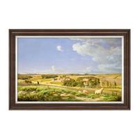 橙舍欧式油画装饰画客厅风景画卢根达斯 草原农场