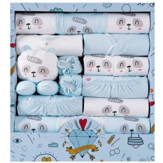 BANJVALL 班杰威尔  四季祝福熊婴儿服礼盒 蓝色 0-6个月