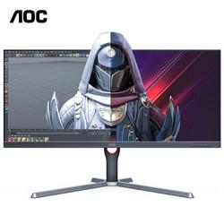 AOC  冠捷 U34G3X 34英寸带鱼屏电脑显示器(3440×1440、144Hz、HDR10)