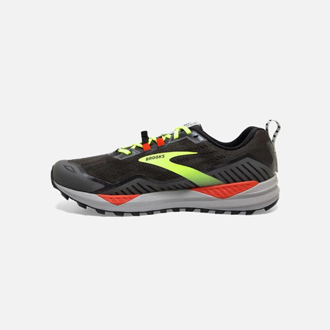 布鲁克斯Brooks Cascadia 15 卡斯蒂亚15 全地形专业 缓冲舒适 男士越野跑步鞋 黑色 标准46/US12