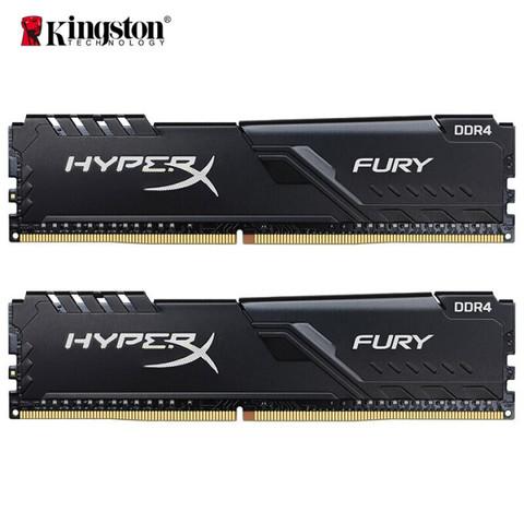 金士顿 (Kingston) 32GB(16G×2)套装 DDR4 3600 台式机内存条 骇客神条 Fury雷电系列