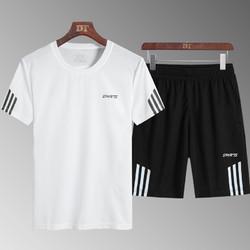 户外速干t恤男套装夏季运动短袖情侣套装冰丝跑步吸汗透气健身衣