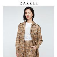 DAZZLE 地素×阿童木联名 女士老花梭织风衣工装外套 2C1F6113N