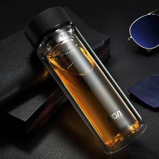 Fuguang 富光 WFB1013-320 双层带盖玻璃杯 320ml 黑色