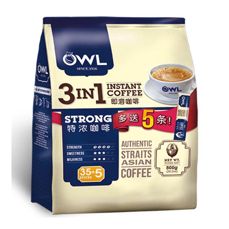 OWL 貓頭鷹 三合一 特濃速溶咖啡粉 800g