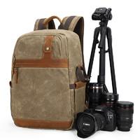 摄影双肩包单反数码镜头户外背包 防水camera bag帆布相机包