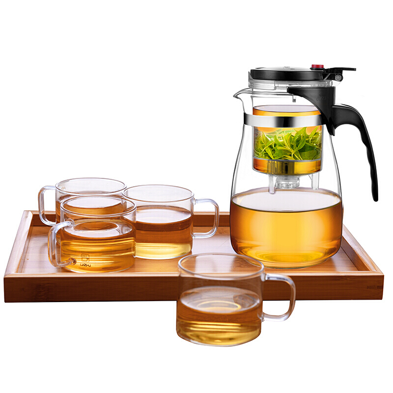 lvzhu 绿珠 玻璃茶具 1000ml 飘逸杯套装