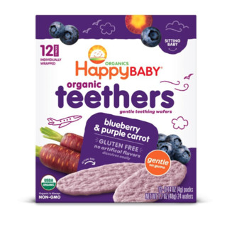 HAPPYBABY 禧贝 有机磨牙饼干 蓝莓紫胡萝卜味 48g
