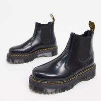 Dr Martens 2976 quad platform chelsea boots in black