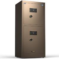 虎牌保险柜 领尚系列 150 保险柜 咖啡色 双门 密码解锁 150cm