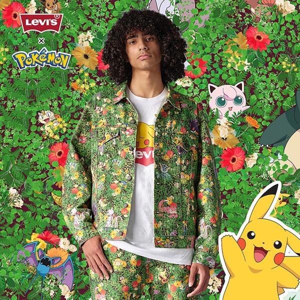 Levi's® x Pokémon 联名系列 男士纯棉满印牛仔夹克
